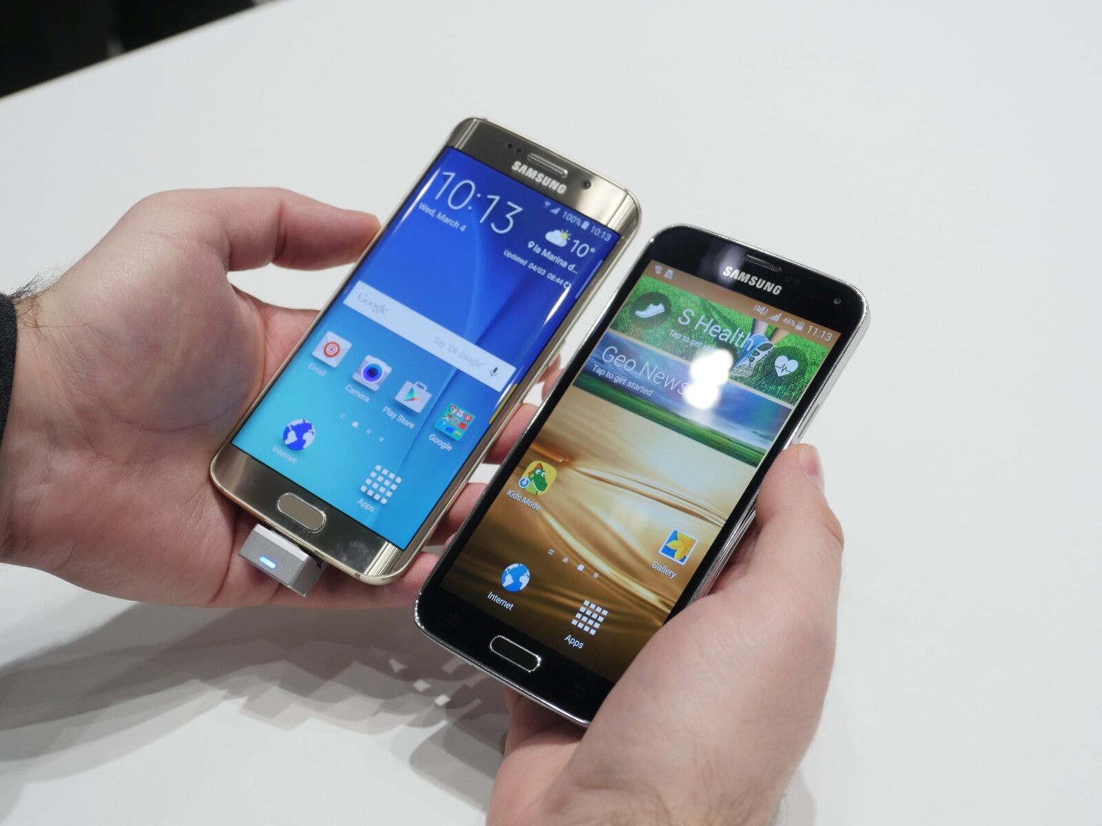 Samsung Galaxy S6 edge vs Galaxy S5: speed comparison