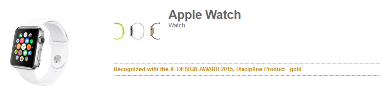 Apple Watch wins iF Design Award 2015, appears on the ...