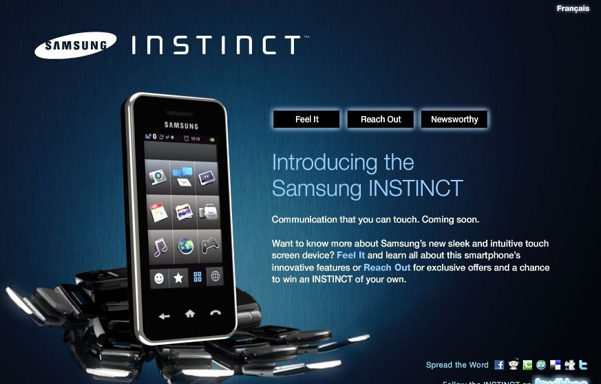 Instinct, CDMA Touch Diamond coming to Canada