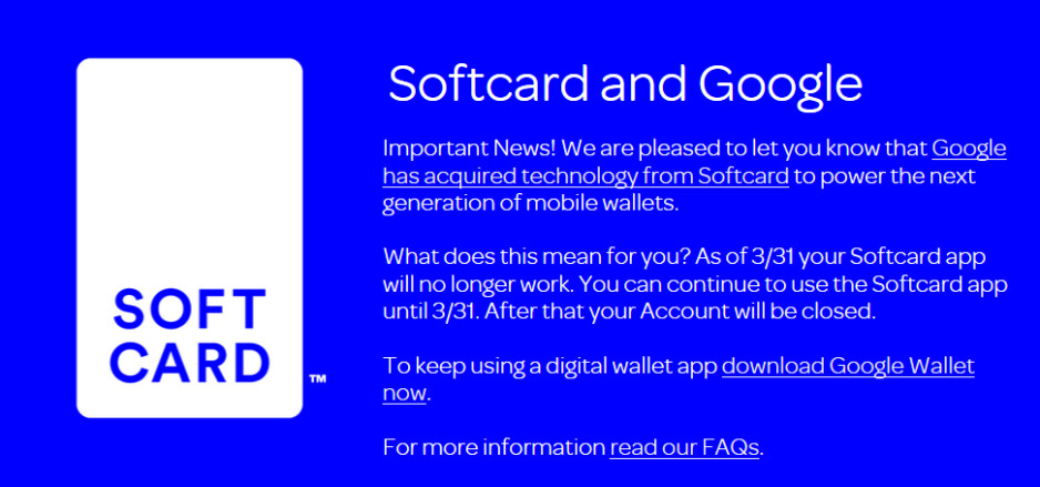 Softcard shuts down at the end of this month - Softcard to shut down at the end of the month; Apple, Samsung and Google to battle for supremacy