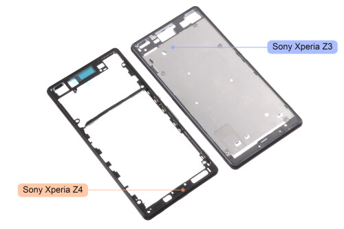 Leaked Sony Xperia Z4 chassis and LCD touch digitizer