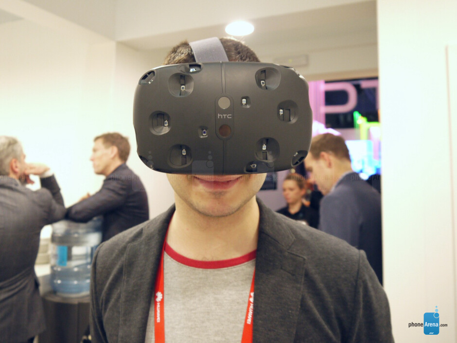 The HTC Vive VR is a nerdy contraption that you wear over your eyes - We tested the HTC Vive virtual reality headset and it was awesome