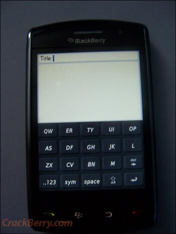 BlackBerry Thunder breaks cover!