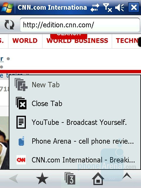 Tabs - Hands-on with Opera Mobile 9.5 Beta
