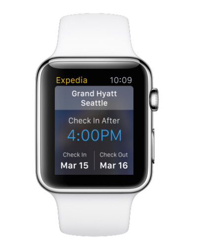 Expedia on Apple Watch - Travel app Expedia will have Apple Watch app ready to use by April 24th launch