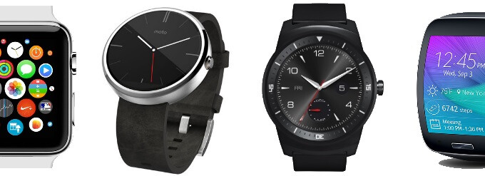 Apple Watch vs Moto 360 vs LG G Watch R vs Samsung Gear S: specs comparison