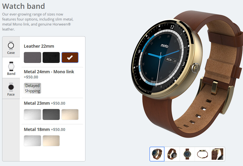 Motorola launches Moto Maker for the Moto 360 smartwatch