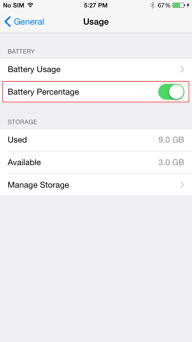 show battery percentage iphone 5 iphone iphone battery percentage display 5879