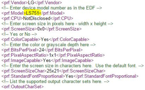 User Agent Profile found on Sprint's site reveals mystery LG LS751 - Mystery LG LS751 model appears on a User Agent Profile on Sprint's website