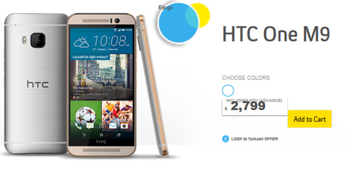 The HTC One M9 can be pre-ordered from Turkcell - Pre-orders begin for the HTC One M9 in Turkey