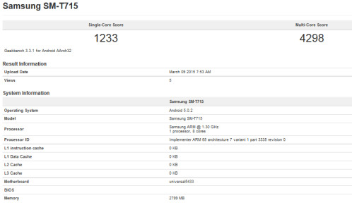 The tablet goes through a benchmark test
