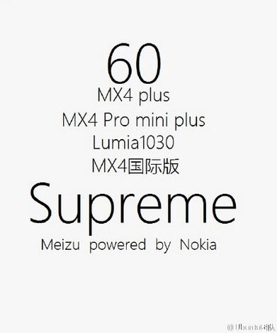 This poster has revived the rumor that Meizu and Nokia are working on a phone called the Meizu MX4 Supreme - Rumor returns: Meizu and Nokia to partner on the mysterious MX4 Supreme?