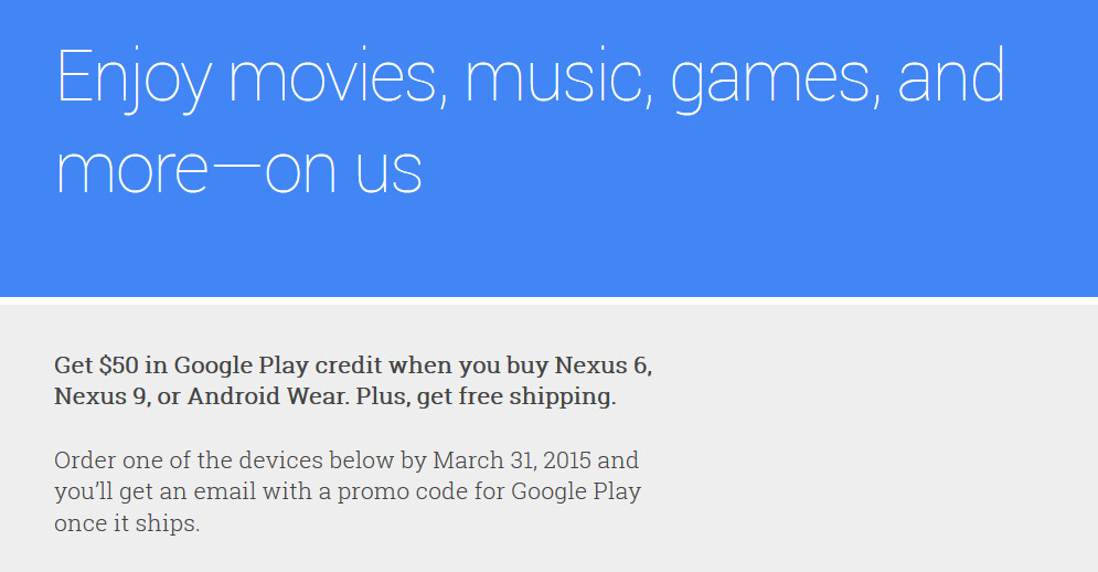 Buy the Nexus 6, Nexus 9 or Android Wear device and score ...