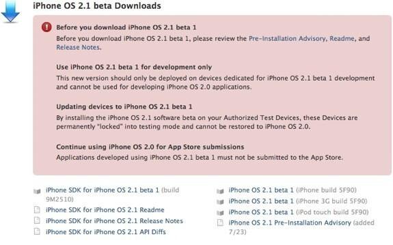Developers get iPhone 2.1 beta, GPS enhancements hinted