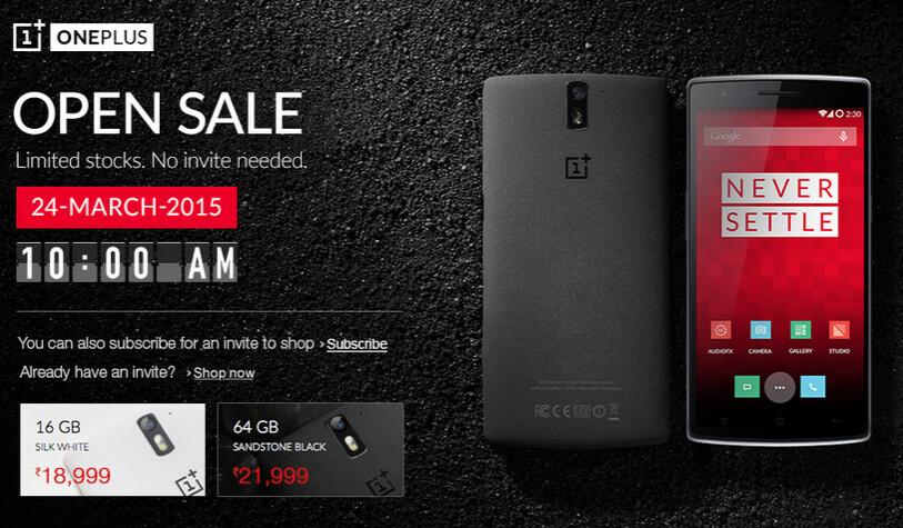 OnePlus One to be offered in India sans invites on March 24th - OnePlus One to be offered March 24th in India sans invites; new image of Oxygen OS leaks