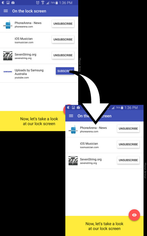 Remove website feeds