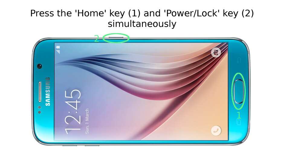 How to take a screenshot on the Samsung Galaxy S6 / S6 edge