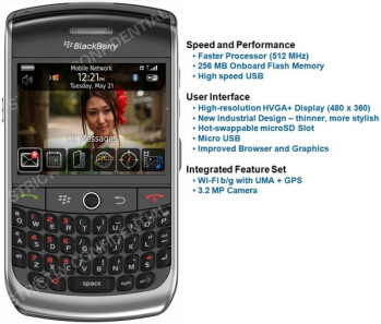 BlackBerry Javelin comes into focus