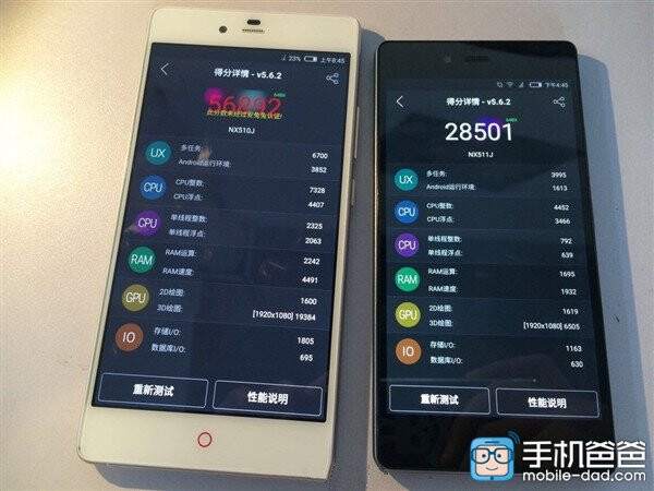 The Nubia Z9 Max crushes on AnTuTu's benchmark test, the Z9 mini – not so much