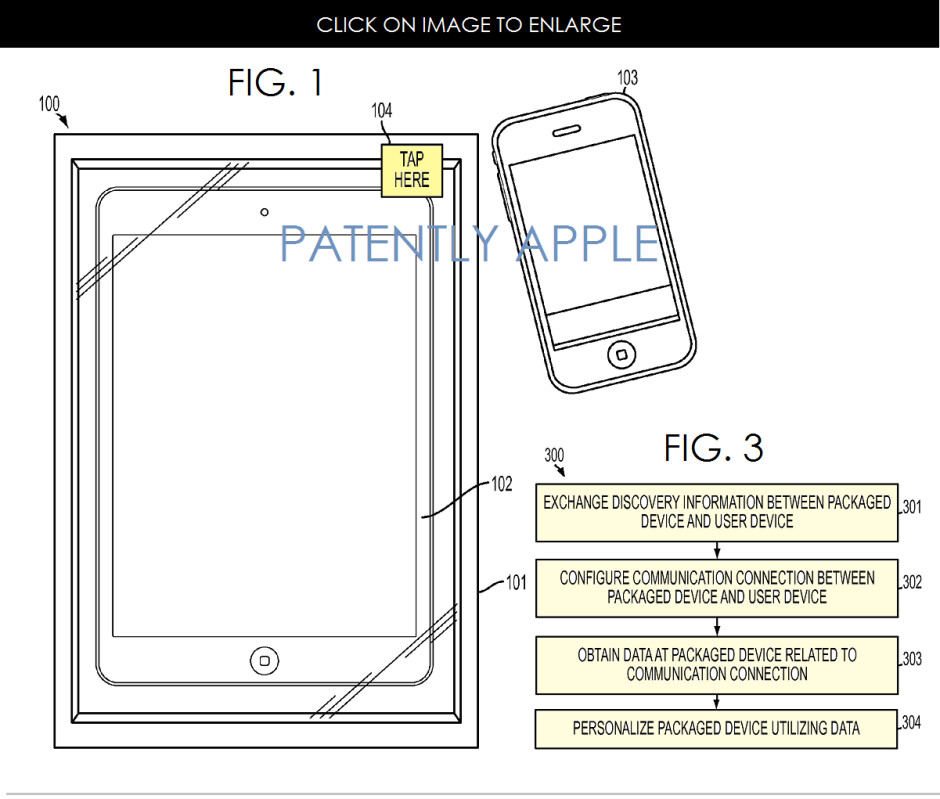 Apple reinvents packaging – patent shows new iDevices being personalized for use before they even leave the box