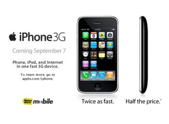 iPhone 3G will hit the shelves in Best Buy on September 7