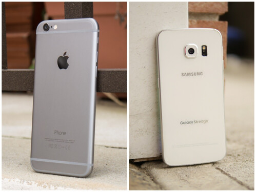 Apple iPhone 6 vs Samsung Galaxy S6 edge design images