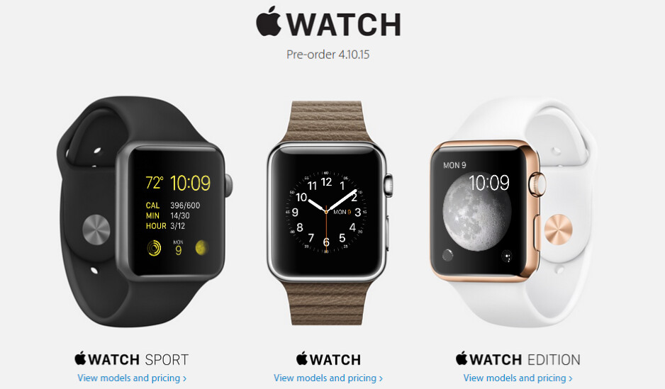 If you want to customize your Apple Watch you might have to purchase an additional band from the online Apple Watch Store - Apple Watch pre-orders won't allow you to customize watch bands and cases