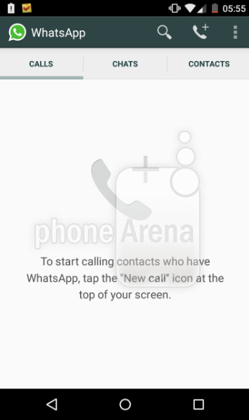 Update to the Android version of WhatsApp adds a new Calls tab - WhatsApp update for Android enables Voice Calls