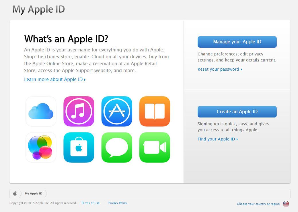 Vai al sito ufficiale di Apple ID