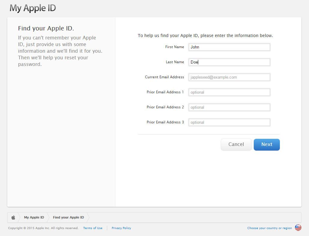 * Ignorare questo passaggio se si conosce l'ID Apple. *