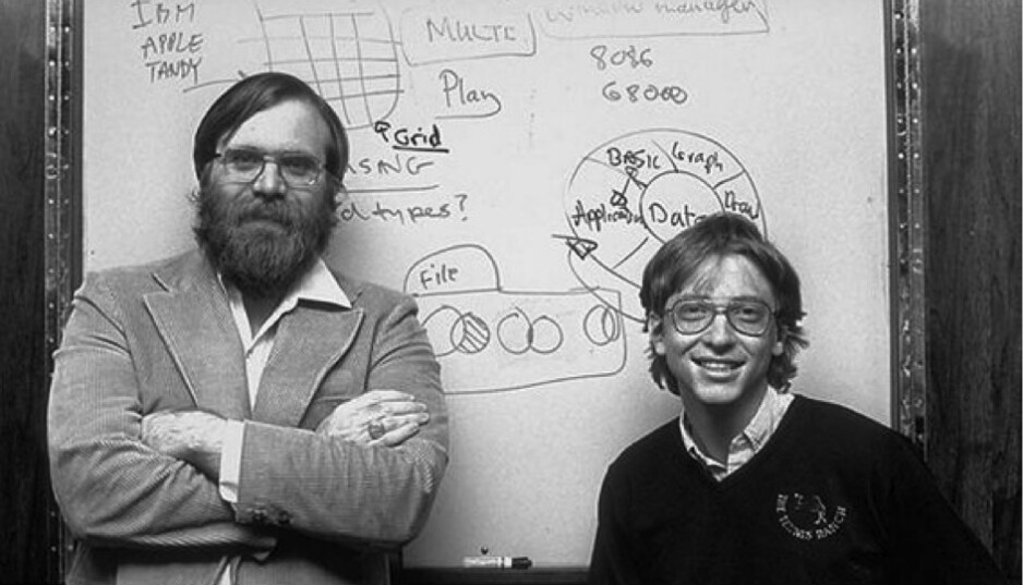 Paul Gardner Allen and William Hentry Gates III - Microsoft is 40 years old today