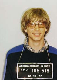 Bill Gates apparently liked to drive fast. Reportedly he got arrested twice, once in 1975 and again in 1977 for speeding and driving without a license. - Microsoft is 40 years old today