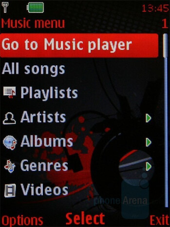 Example of player interface - Nokia 5310 XpressMusic