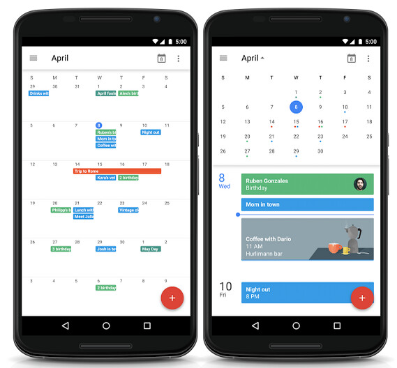 Google Is Bringing The Month View Back To Its Android Calendar App