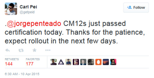 OnePlus co-founder Pei says CM12S will rollout soon to OnePlus One users - Cyanogen 12S certified, OnePlus One rollout just days away