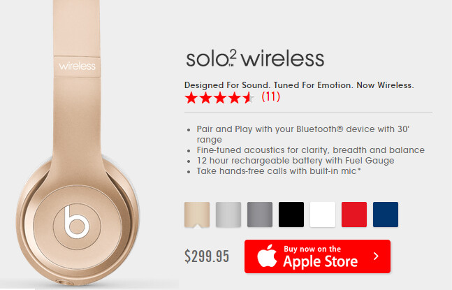 Apple now has added iPhone and iPad colors to the Beats Solo2 wireless headphones - Apple adds iPhone, iPad color options to its Beats Solo2 wireless headphones