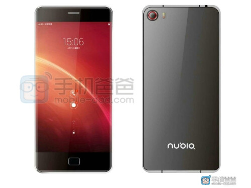 "ZTE Nubia Z9 render shows a screen curved to the sides, first Samsung Galaxy S6 edge ""copycat""?"