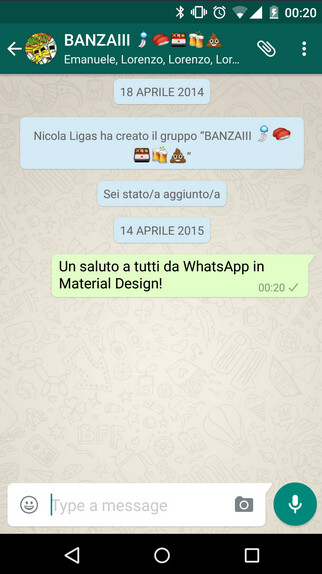 WhatsApp updated with Material Design; download the apk now