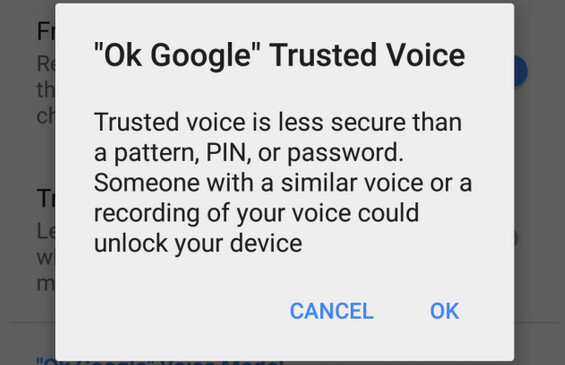 "Trusted Voice is being added to Smart Lock - Nexus users will soon be able to use a ""Trusted Voice"" to unlock their stock Android device"