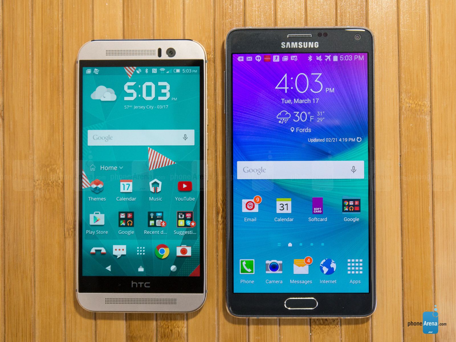 Samsung Galaxy Note 4 vs HTC One M9: which phone is faster? (real