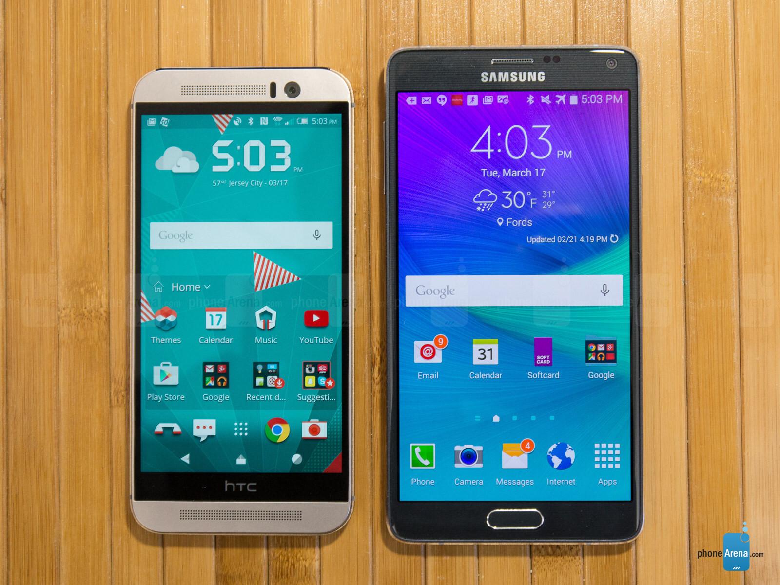 Samsung galaxy note 5 vs htc one m9 plus a comparison - Htc One M9 Vs Samsung Galaxy Note 4