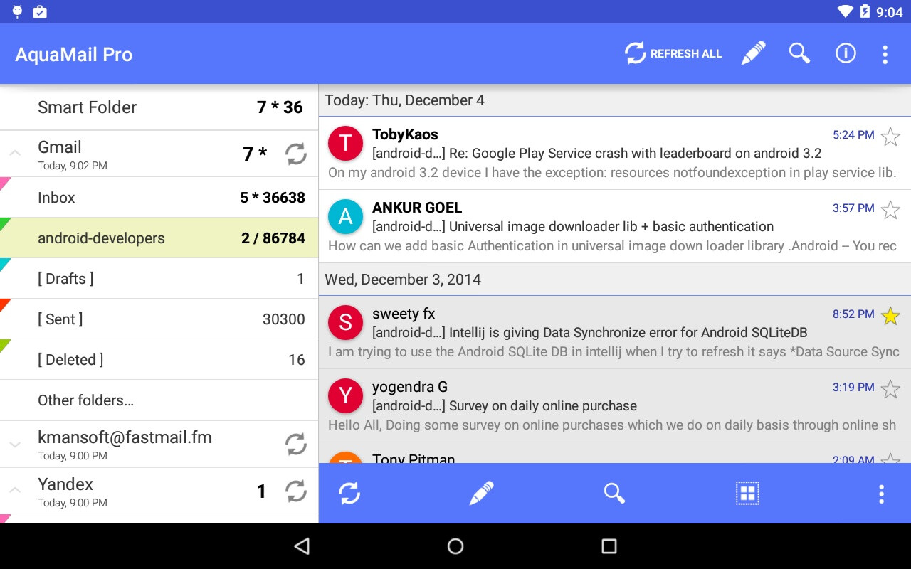 Five Free Feature Rich Alternatives To Gmail For Android