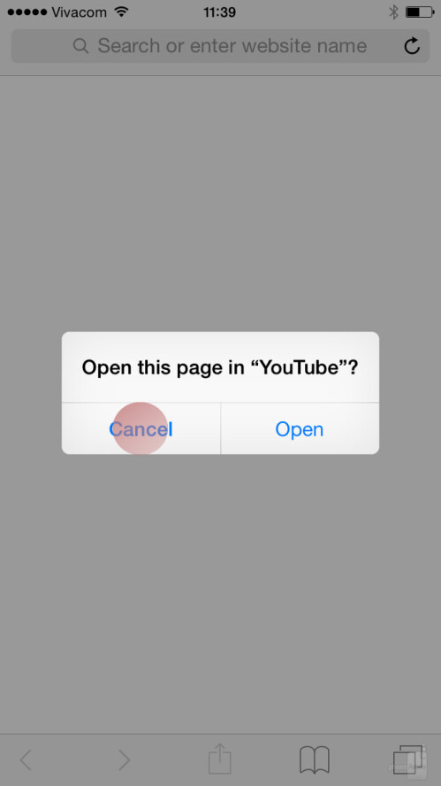 [if YT app wasn't deleted] Go again