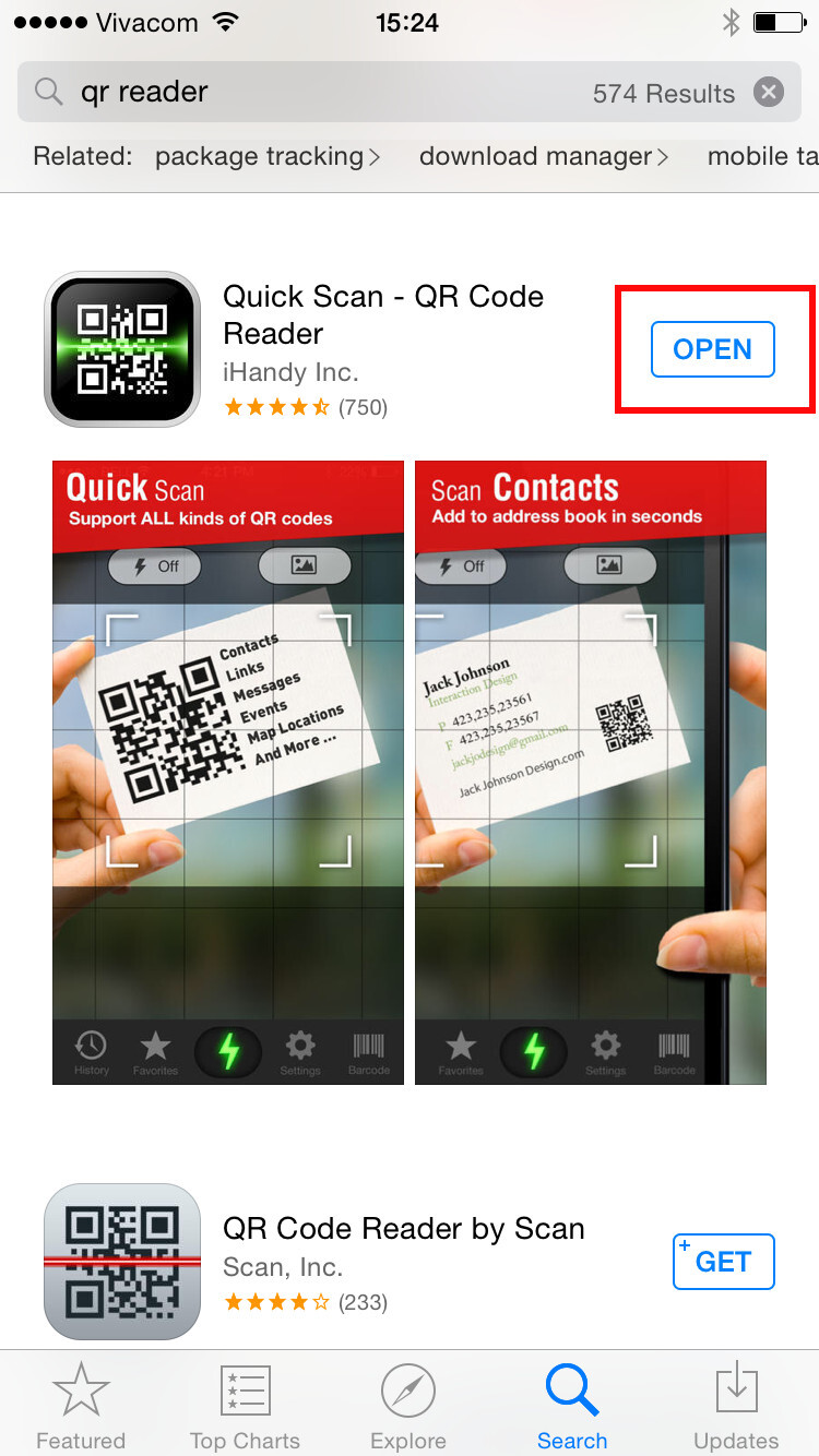 how to scan a qr code on your iphone. Black Bedroom Furniture Sets. Home Design Ideas
