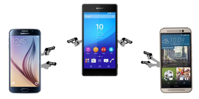 Sony Xperia Z4 vs Samsung Galaxy S6 vs HTC One M9 specs comparison: a Mexican standoff