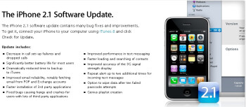 iPhone 2.1 software out now