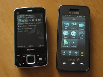 Nokia N96 next to Samsung Instinct