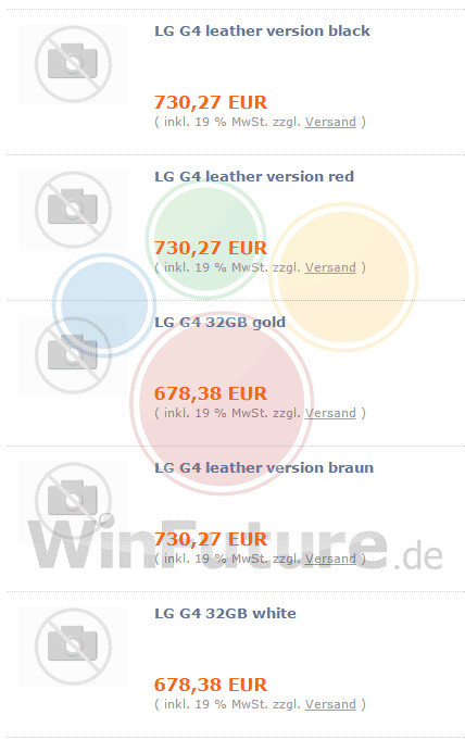 LG G4 prices in Germany