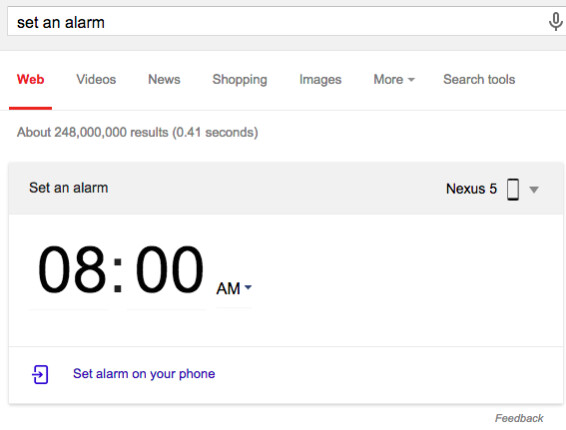 How to command your Android phone from your computer (set alarms
