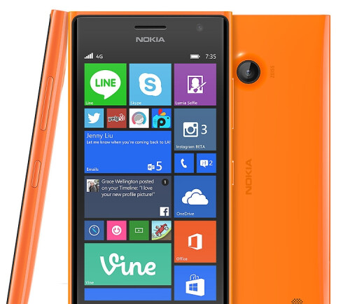 Microsoft has apparently removed Nokia's logo from the Lumia 735 before its US launch